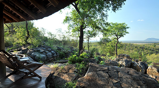 Madikwe Game Reserve - Buffalo Ridge Lodge - Thatched Chalet Deck View