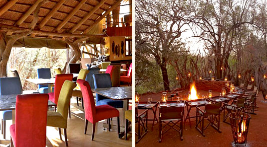 Jaci's Safari Lodge - Madikwe Game Reserve - Main Lodge Dining Room &  Boma