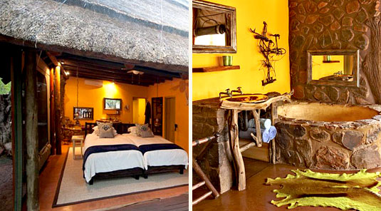 Jaci's Safari Lodge - Madikwe Game Reserve - Nare Suite Twin Room & Bathroom