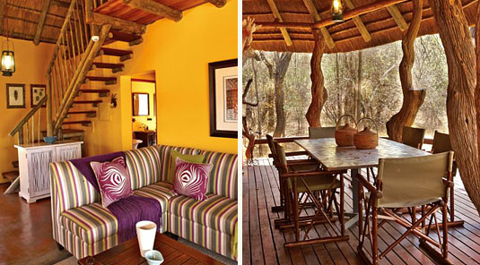 Jaci's Safari Lodge - Madikwe Game Reserve - Safari Suite Lounge & Dining room Table