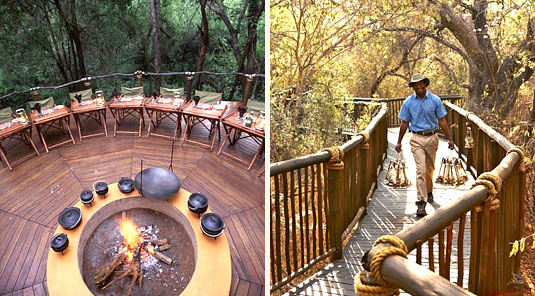 Jaci's Tree Lodge - Madikwe Game Reserve - Boma & Wooden Walkways