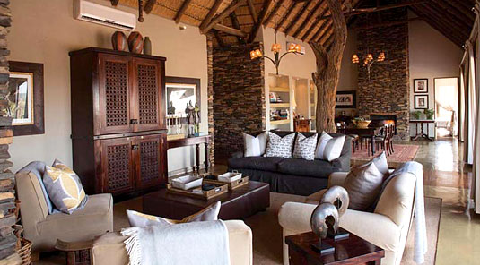 Little Madikwe Hills - Madikwe Game Reserve - Main Lodge Lounge & Dining Room