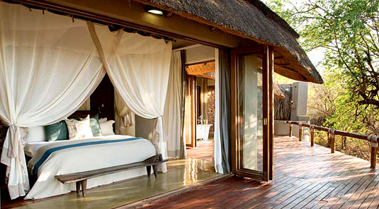 Little Madikwe Hills - Madikwe Game Reserve - Luxury Suite Bedroom opens onto Deck