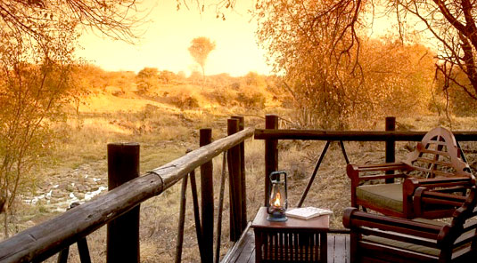 Madikwe River Lodge - Deck View