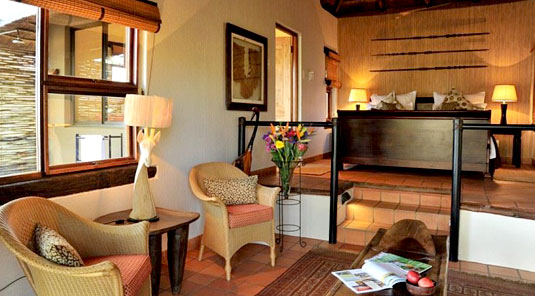 Madikwe River Lodge - Luxury split-level thatched chalets