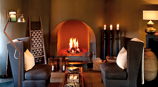 Fire Place - Madikwe Safari Lodge - Madikwe Game Reserve