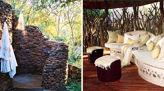 Makanyane Safari Lodge - Madikwe Game Reserve - Outside Shower & Lounge