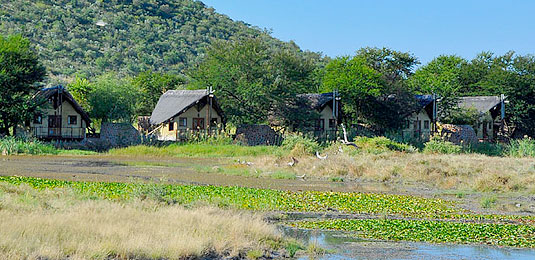 Rustic Thatched Chalets - Tau Game Lodge - Madikwe Game Reserve
