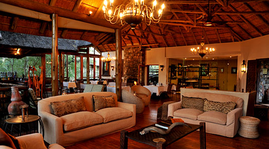 Thakadu River Camp - Main Lodge Lounge - Madikwe Game Reserve