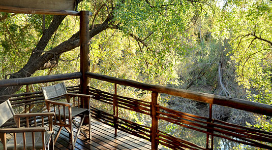 Thakadu River Camp - Viewing Deck - Madikwe Game Reserve