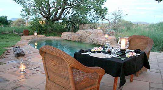 Intimate Dining - The Bush House - Madikwe Game Park